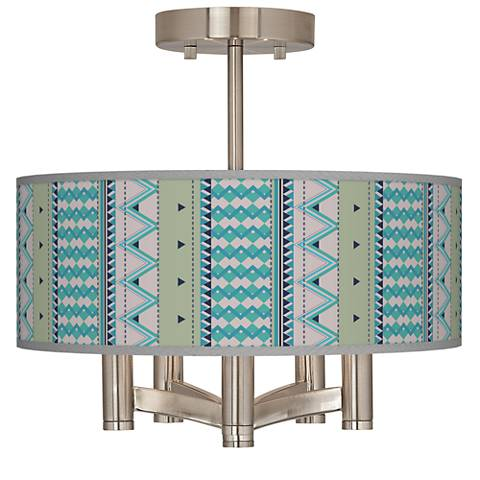 Geo Metrix Ava 5-Light Nickel Ceiling Light