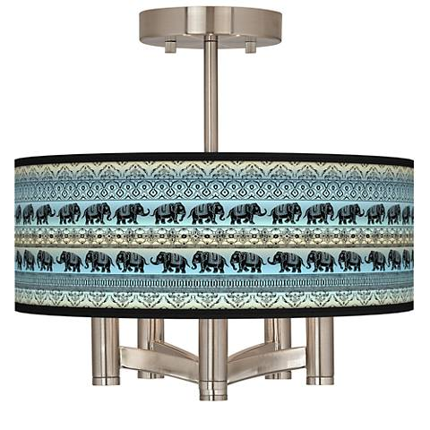 Elephant March Ava 5-Light Nickel Ceiling Light