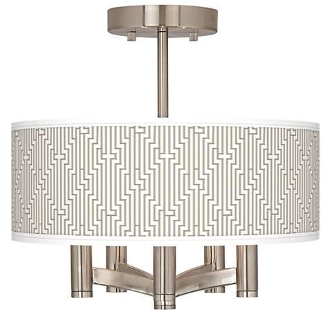 Diamond Maze Ava 5-Light Nickel Ceiling Light