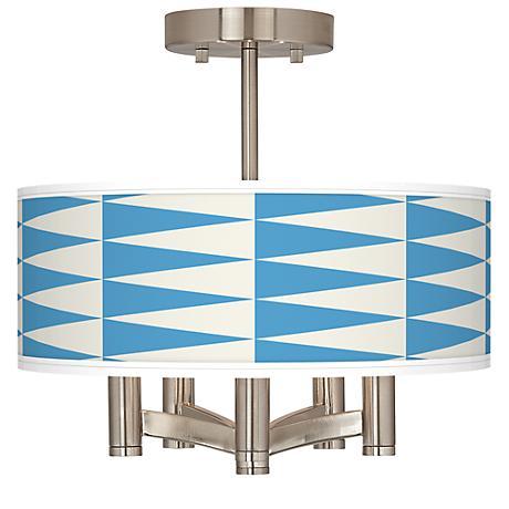 Coastal Pennant Ava 5-Light Nickel Ceiling Light