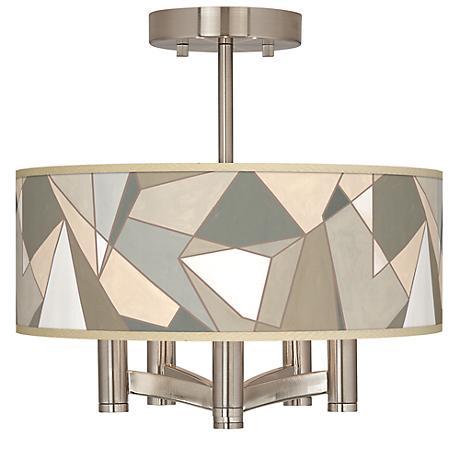Modern Mosaic I Ava 5-Light Nickel Ceiling Light