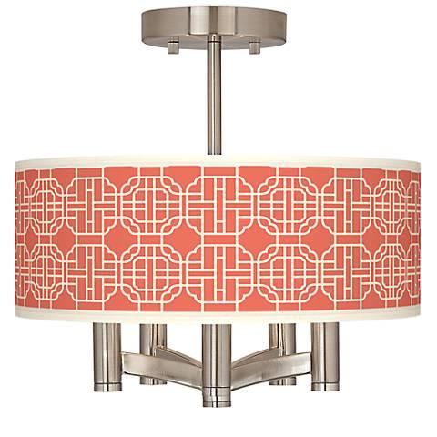Mandarin Ava 5-Light Nickel Ceiling Light