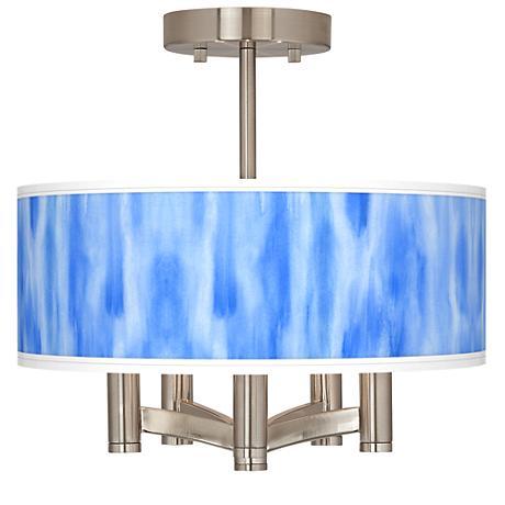 Blue Tide Ava 5-Light Nickel Ceiling Light