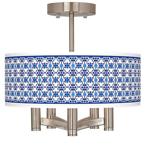 Indigo Path Ava 5-Light Nickel Ceiling Light