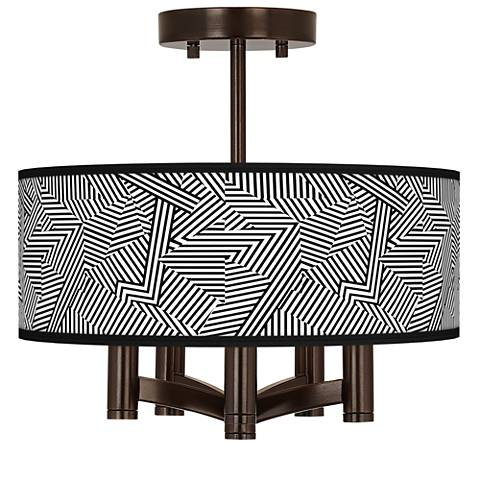 Labyrinth Ava 5-Light Bronze Ceiling Light