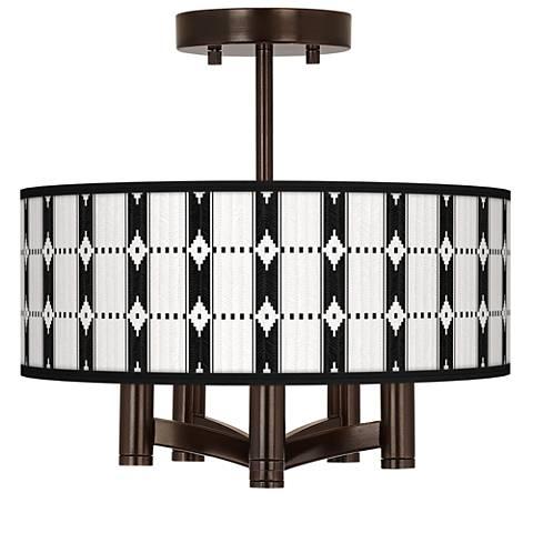 Tribal Weave Ava 5-Light Bronze Ceiling Light