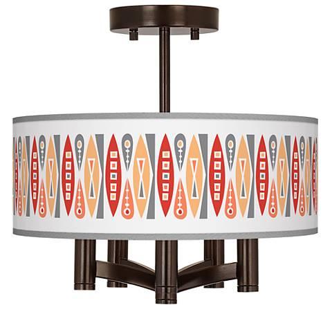 Vernaculis VI Ava 5-Light Bronze Ceiling Light