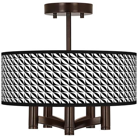 Waves Ava 5-Light Bronze Ceiling Light