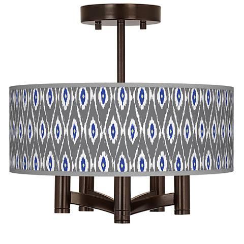 American Ikat Ava 5-Light Bronze Ceiling Light
