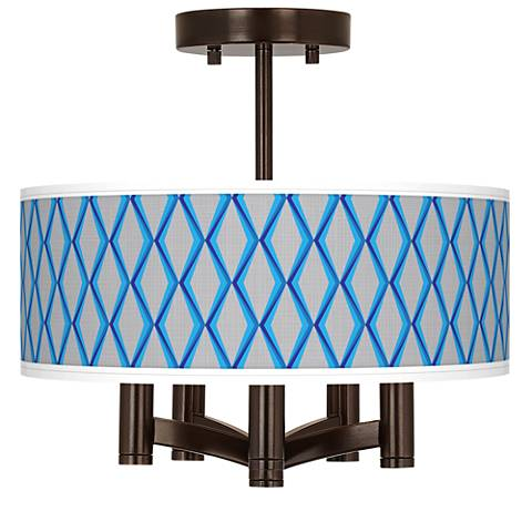 Bleu Matrix Ava 5-Light Bronze Ceiling Light