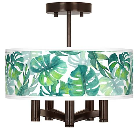 Tropica Ava 5-Light Bronze Ceiling Light
