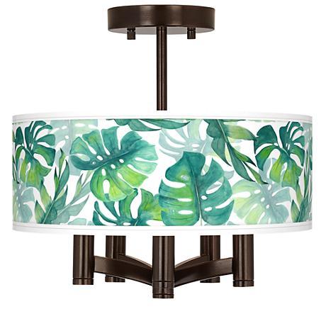 Tropica Ava 5-Light Bronze Ceiling Light
