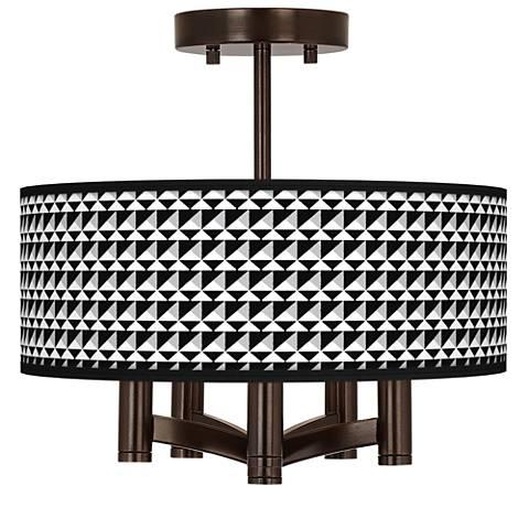Triangle Illusion Ava 5-Light Bronze Ceiling Light