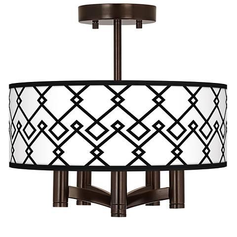 Diamond Chain Ava 5-Light Bronze Ceiling Light