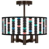 Semi-Dots Ava 5-Light Bronze Ceiling Light