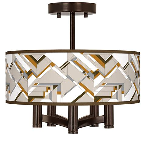 Craftsman Mosaic Ava 5-Light Bronze Ceiling Light