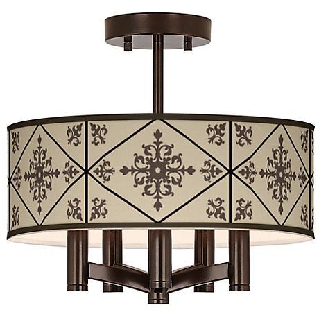 Chambly Ava 5-Light Bronze Ceiling Light