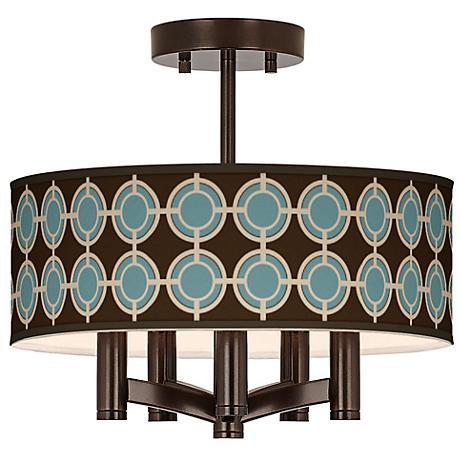Stacy Garcia Porthole Ava 5-Light Bronze Ceiling Light