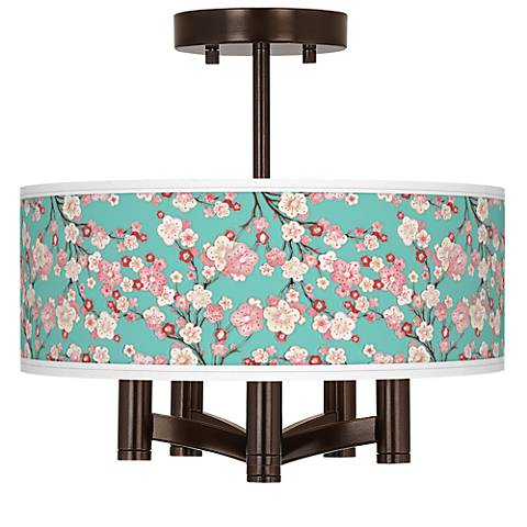 Cherry Blossoms Ava 5-Light Bronze Ceiling Light