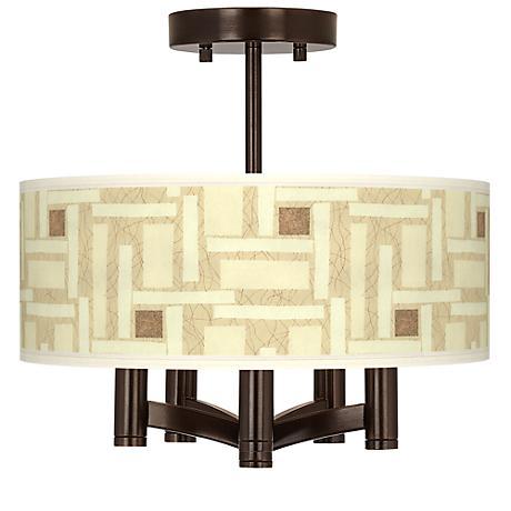Organic Strands Ava 5-Light Bronze Ceiling Light