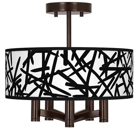 Sketchy Ava 5-Light Bronze Ceiling Light