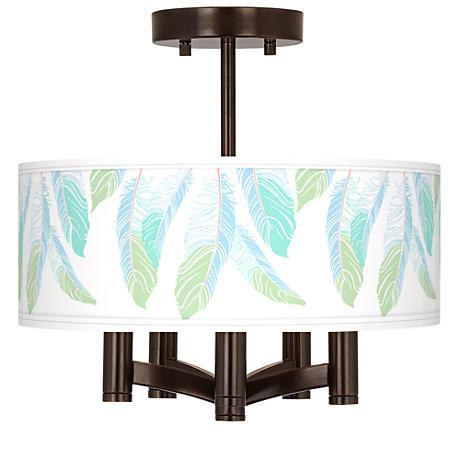 Light as a Feather Ava 5-Light Bronze Ceiling Light