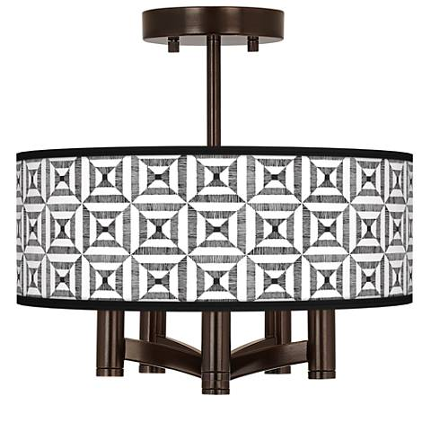 Tile Illusion Ava 5-Light Bronze Ceiling Light