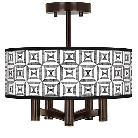 Tile Illusion Ava 5-Light Bronze Ceiling Light