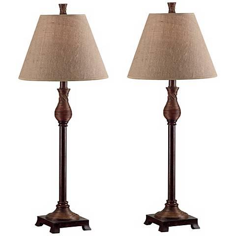 Kenroy Home Set of 2 Santiago Buffet Table Lamps