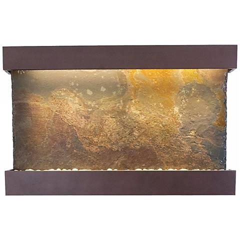 """Classic Quarry Slate 33"""" Coppervein Wall Fountain"""