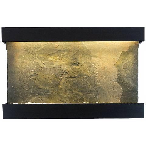 "Classic Quarry 33"" Slate and Black Powder Coat Wall Fountain"