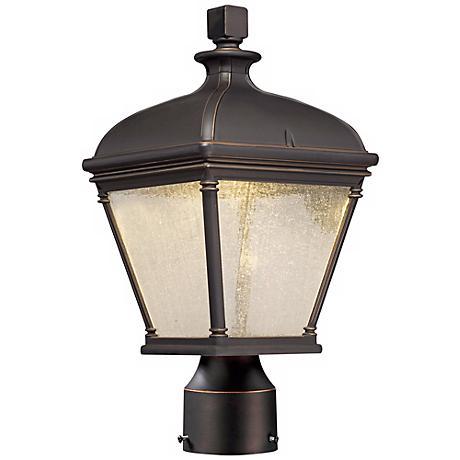 "Lauriston Manor 15"" High Bronze LED Outdoor Post Light"
