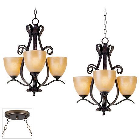 Modella Bronze Double Multi Light Pendant