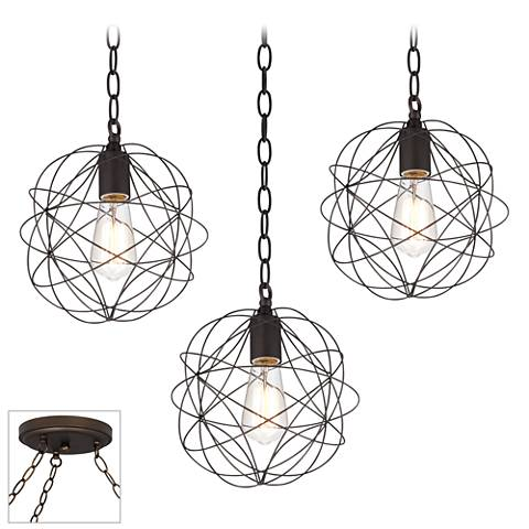 La Joya Bronze 3-Light Swag Chandelier