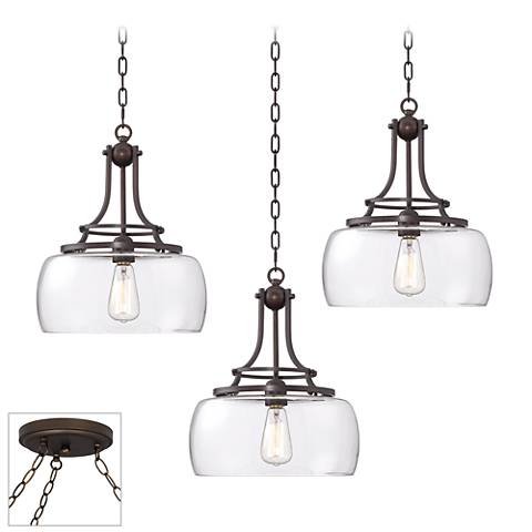 Charleston Bronze 3-Light Swag Chandelier
