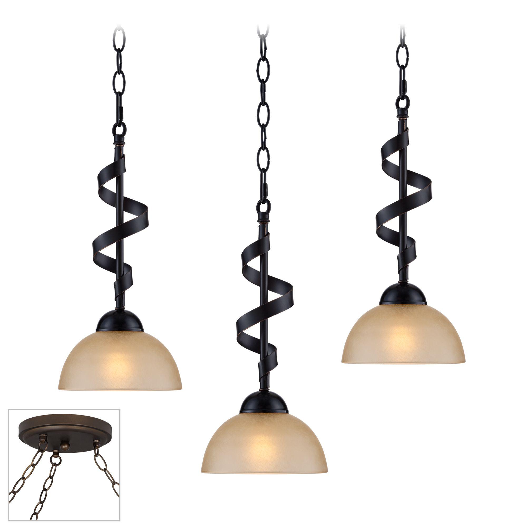 Bronzeador Bronze Triple Multi Light Pendant  sc 1 st  L&s Plus & Bronze Swag Lighting Fixtures | Lamps Plus azcodes.com