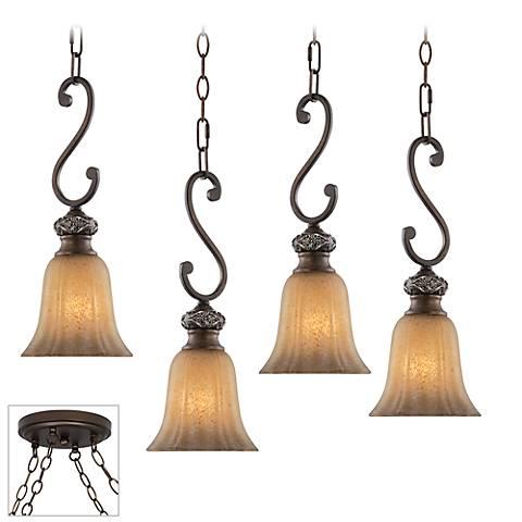 Sterling Estate Bronze 4-Light Multi Light Pendant