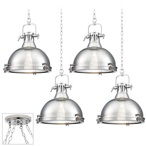 Possini Euro Arlo Chrome 4-Light Swag Chandelier