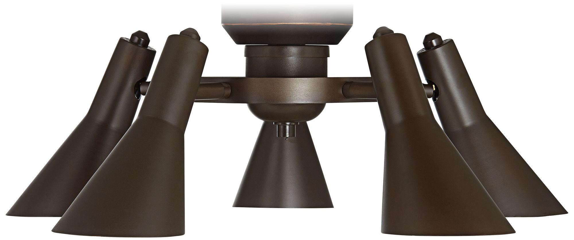 Pull Chain Adjustable Bronze Ceiling Fan Light Kit