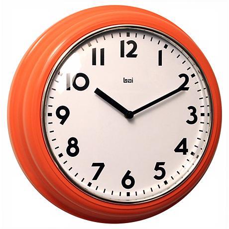 Wall Clocks At Lamps Plus : Retro 12 1/2