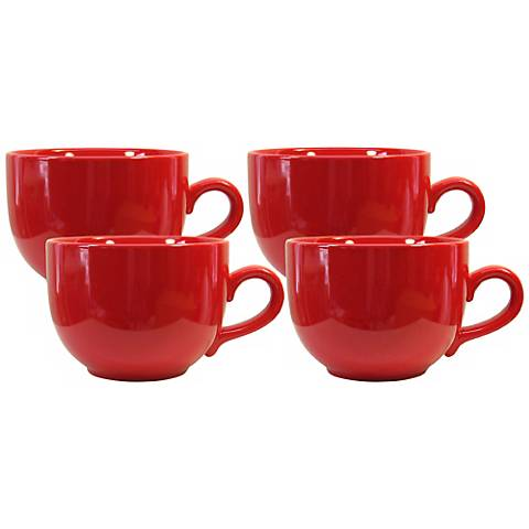 Set of 4 Fun Factory Red Jumbo Cups
