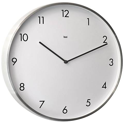 "Bodoni Modernist Steel 15"" Round Wall Clock"