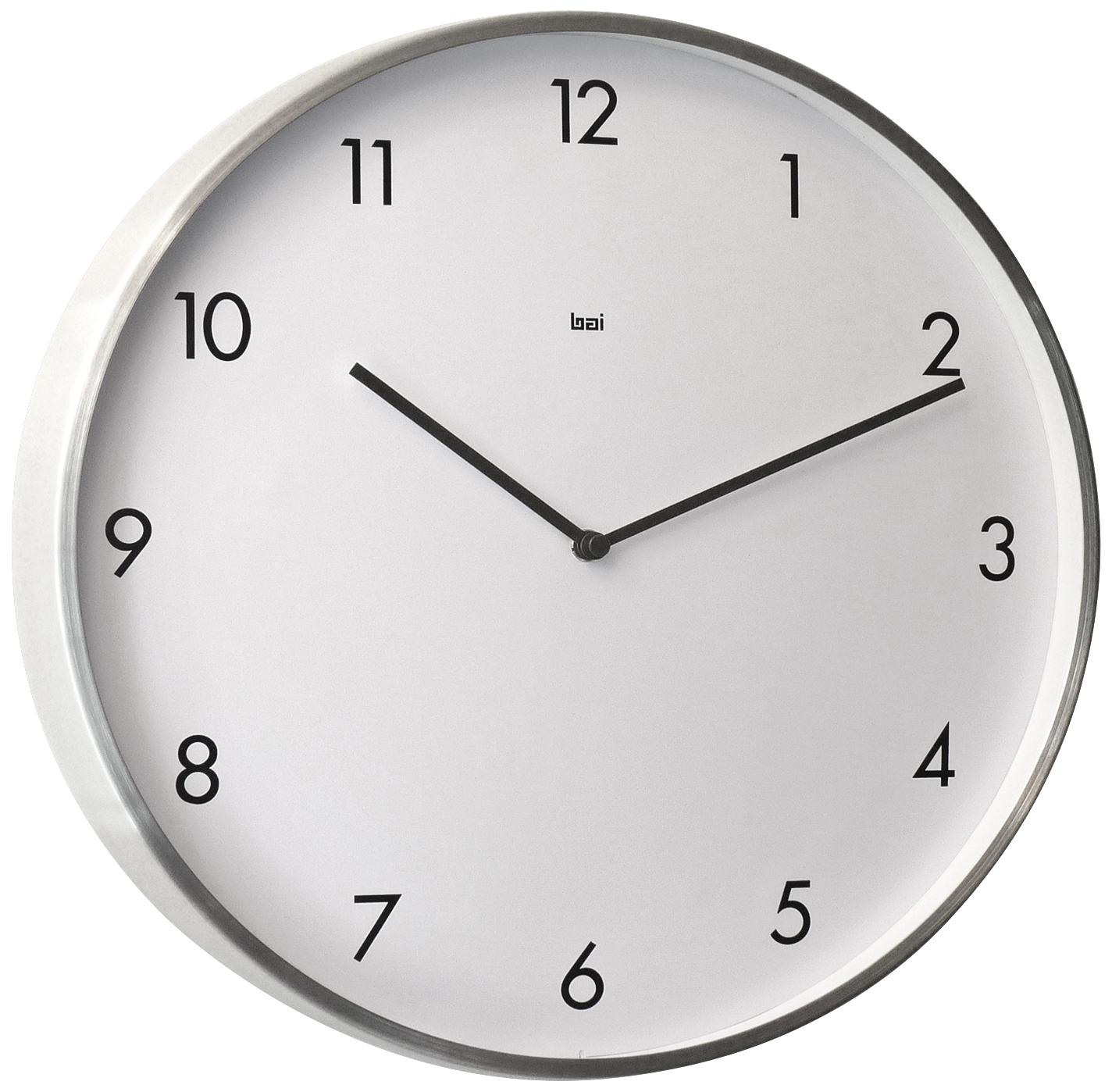 Bodoni Modernist Steel Lima Round Wall Clock Yenam Lamps Plus