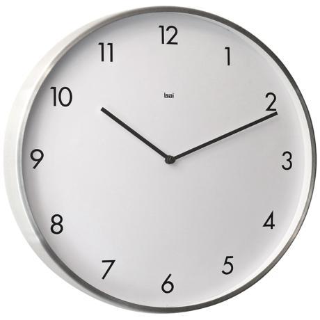 Wall Clocks At Lamps Plus : Bodoni Modernist Steel 15
