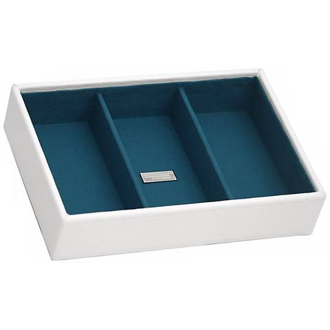Stackable™ White Deep Rectangular Tray