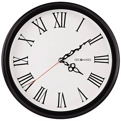 "Decomates Roman Numeral 10 1/4"" Wide Silent White Wall Clock"