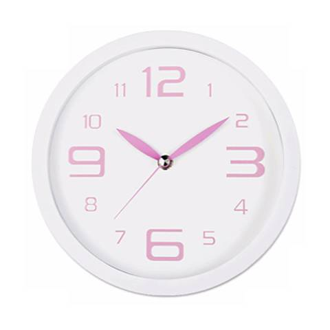 "Decomates Pink Peppermint 8 1/4"" Wide Silent Wall Clock"