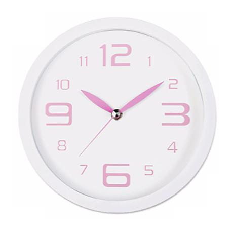"""Decomates Pink Peppermint 8 1/4"""" Wide Silent Wall Clock"""