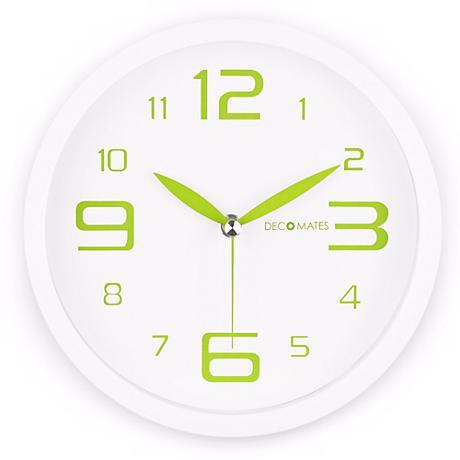 "Decomates Fresh Mint Green 8 1/4"" Wide Silent Wall Clock"