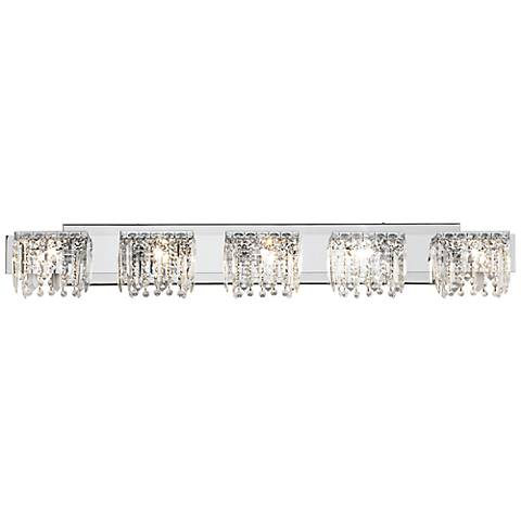 Possini Euro Design Hanging Crystal 42 1 2 Wide Bath Light Y1034 Lamps Plus